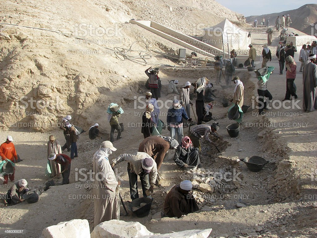 Dig Site: Valley of the Kings stock photo
