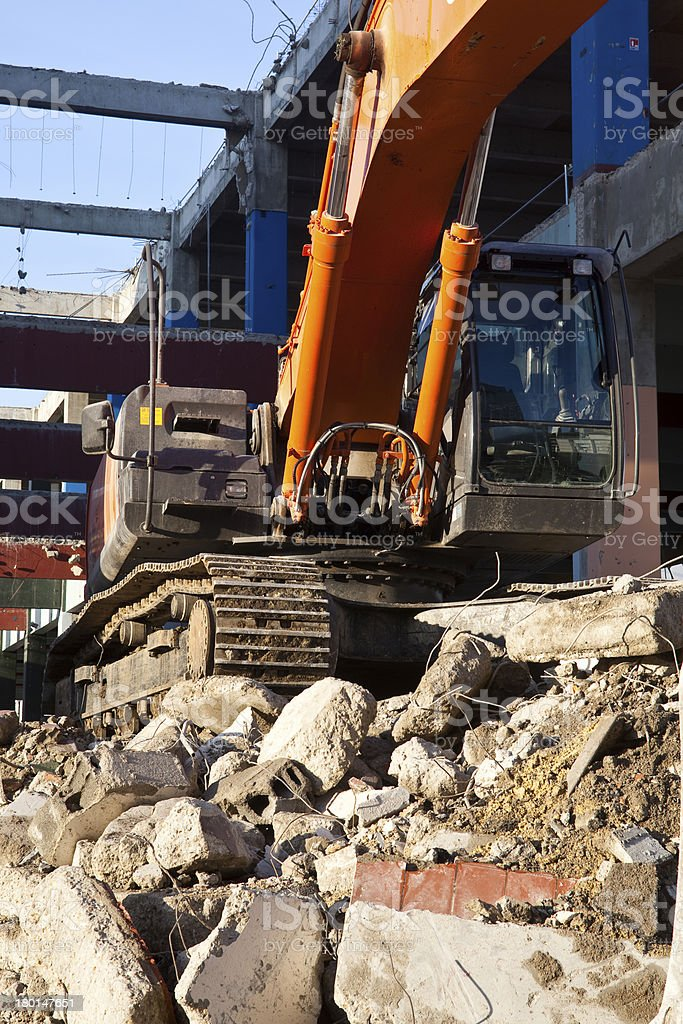Digger construction royalty-free stock photo