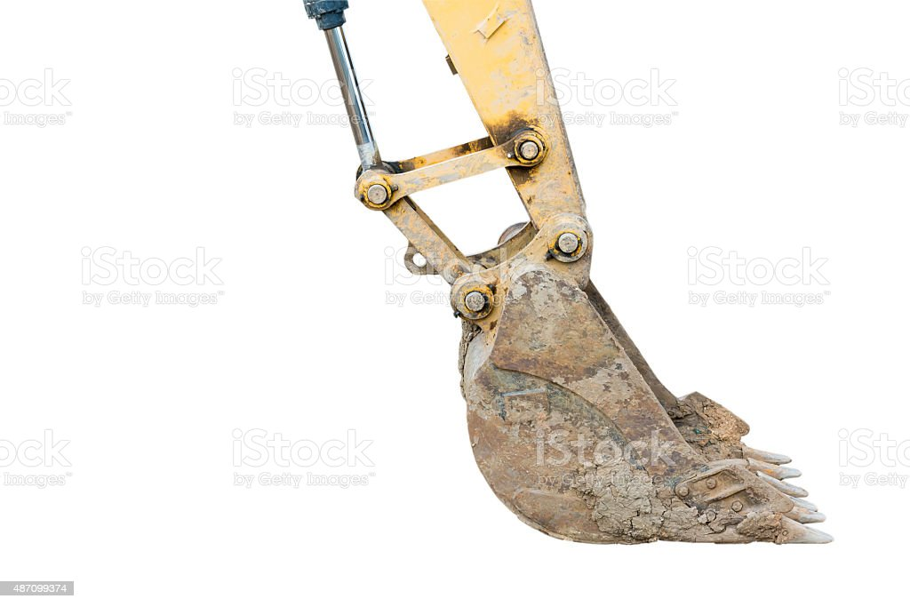 Digger excavator bucket bulldozer stock photo