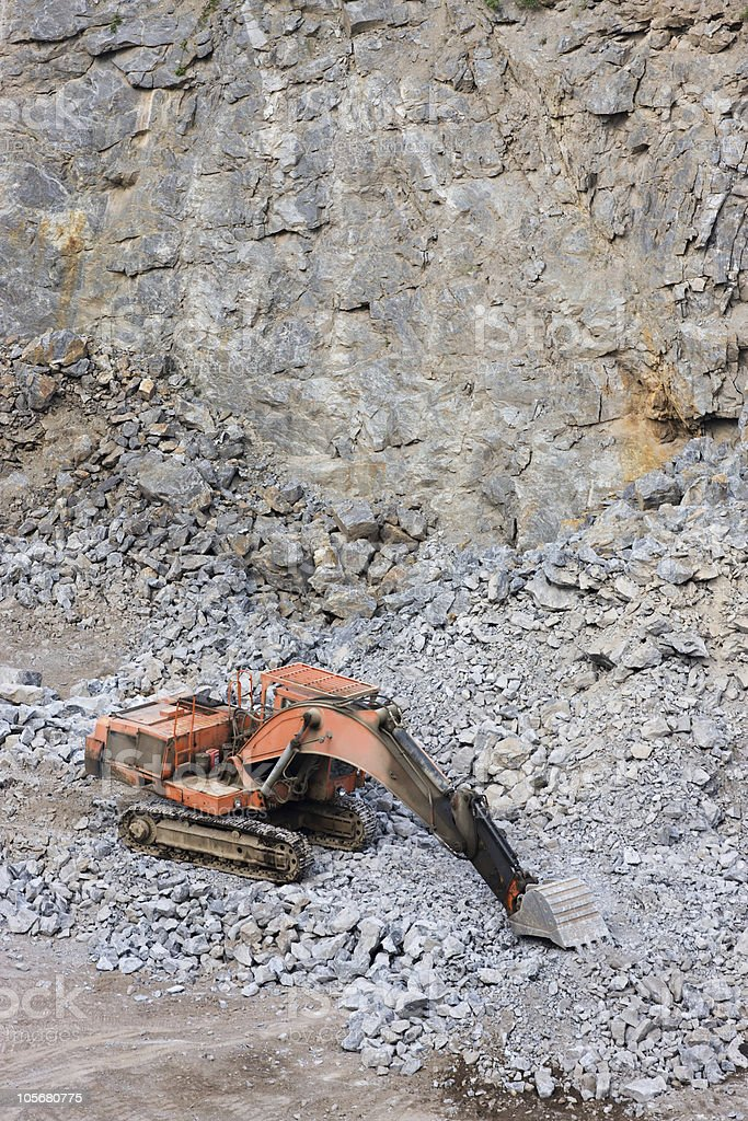 Digger in a quarry royalty-free stock photo