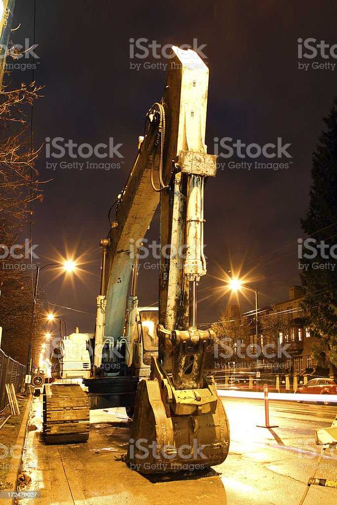 Digger in the Mist royalty-free stock photo