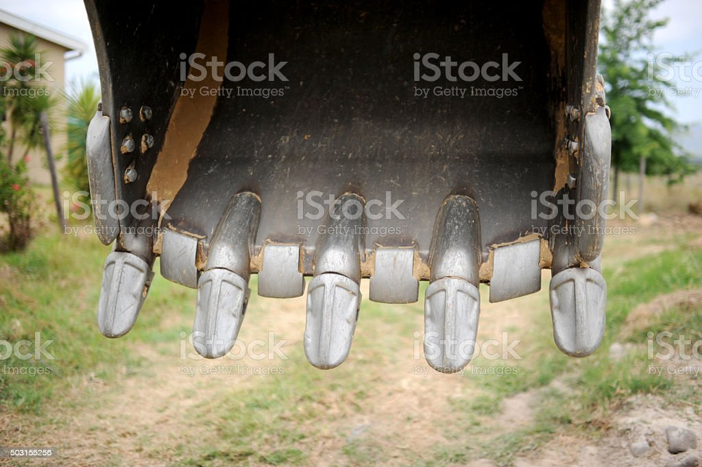 Digger Loader's scoop. stock photo