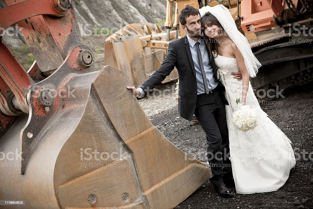 Digger Wedding royalty-free stock photo