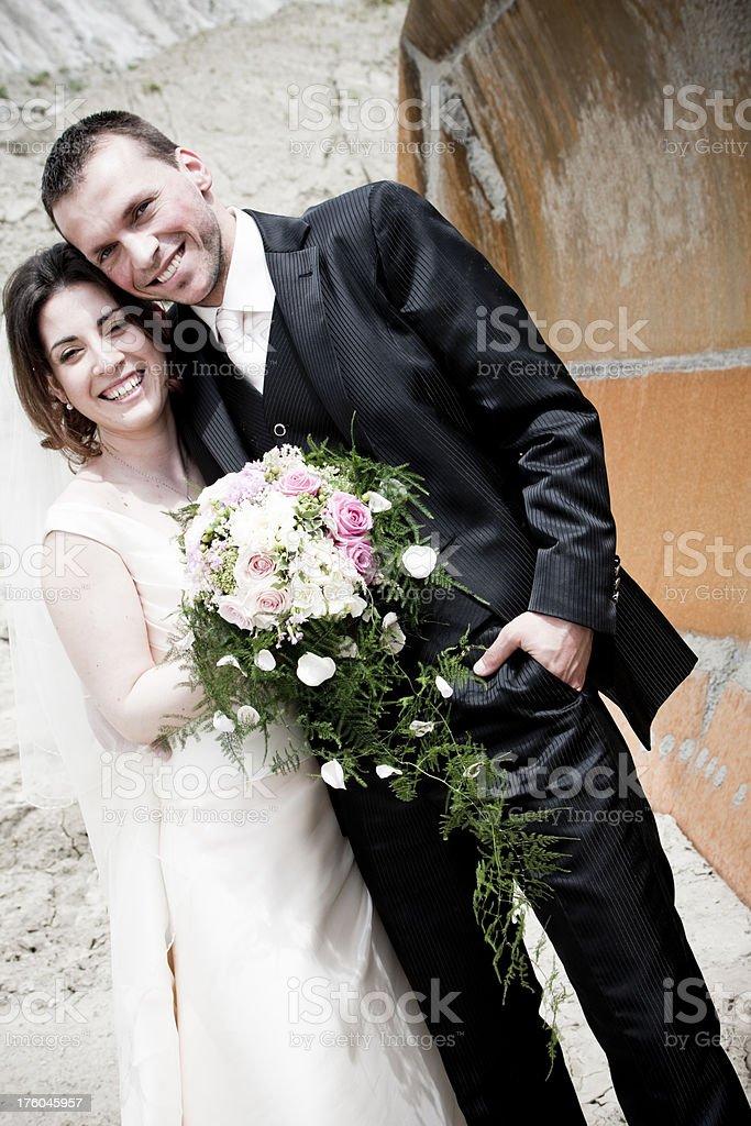 Digger Wedding royalty-free stock photo