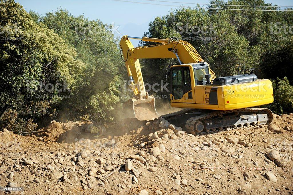 Diggerloader at Work stock photo