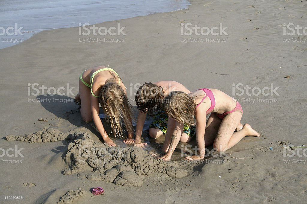 Digging for a treasure royalty-free stock photo