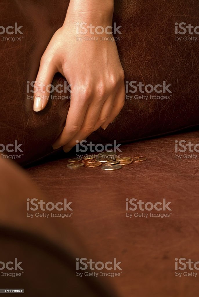 Digging for change 2 stock photo