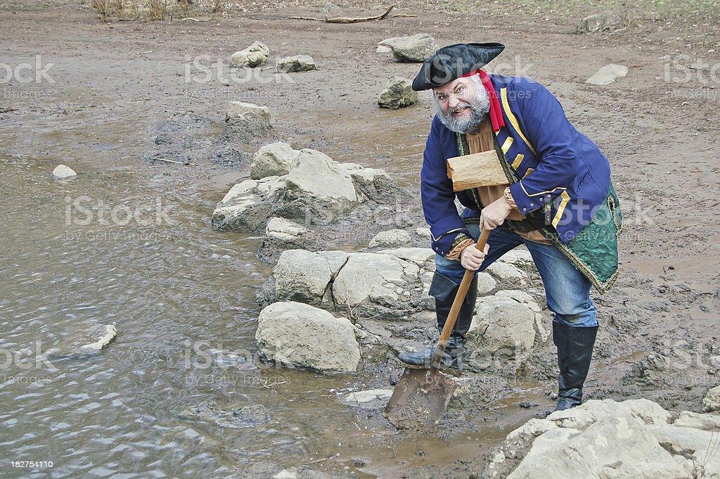 Digging for Treasure stock photo