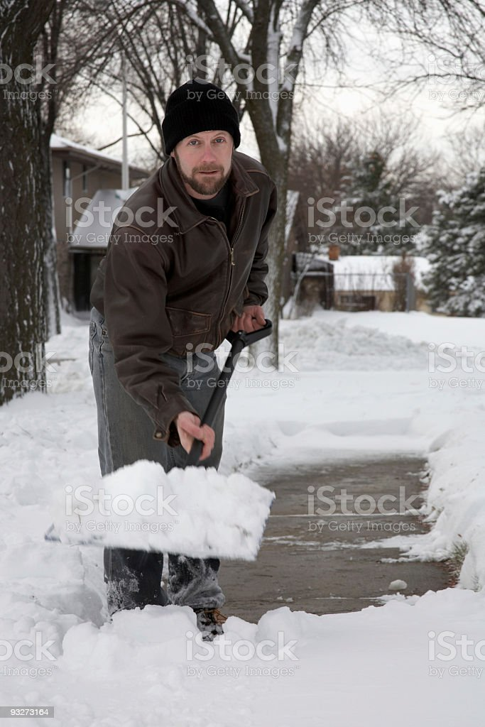 Digging Out royalty-free stock photo