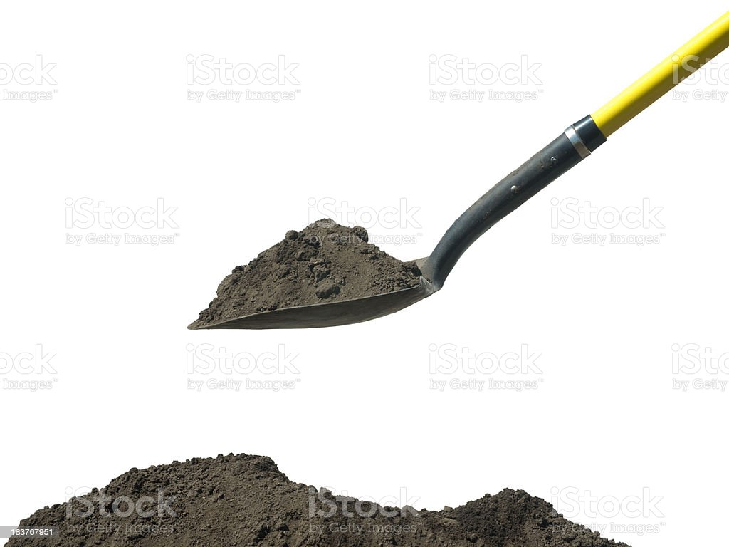 Digging royalty-free stock photo