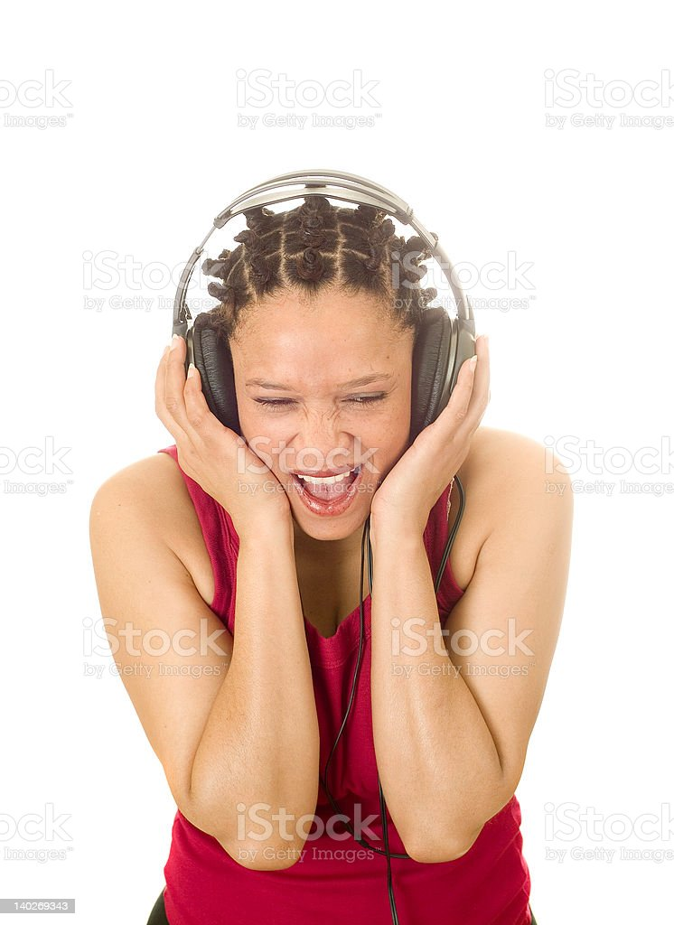 Digging the music royalty-free stock photo