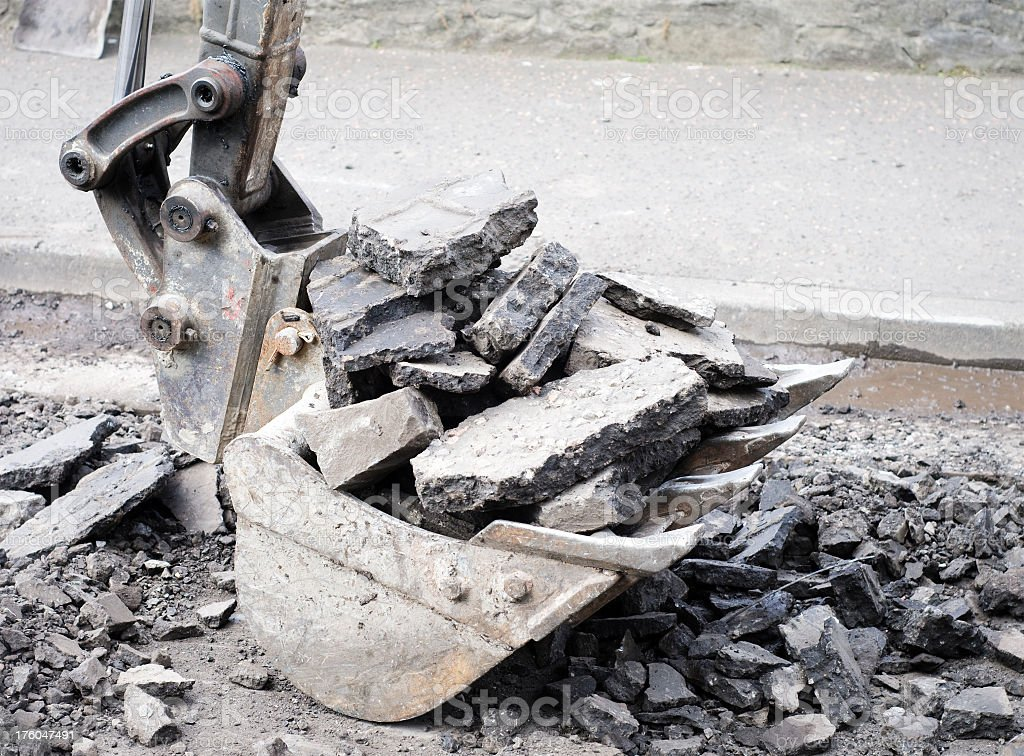 Digging Up The Road royalty-free stock photo