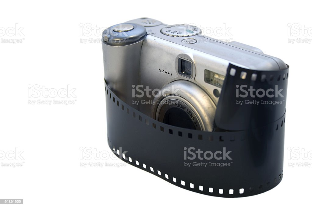 Digicam Wrapped royalty-free stock photo