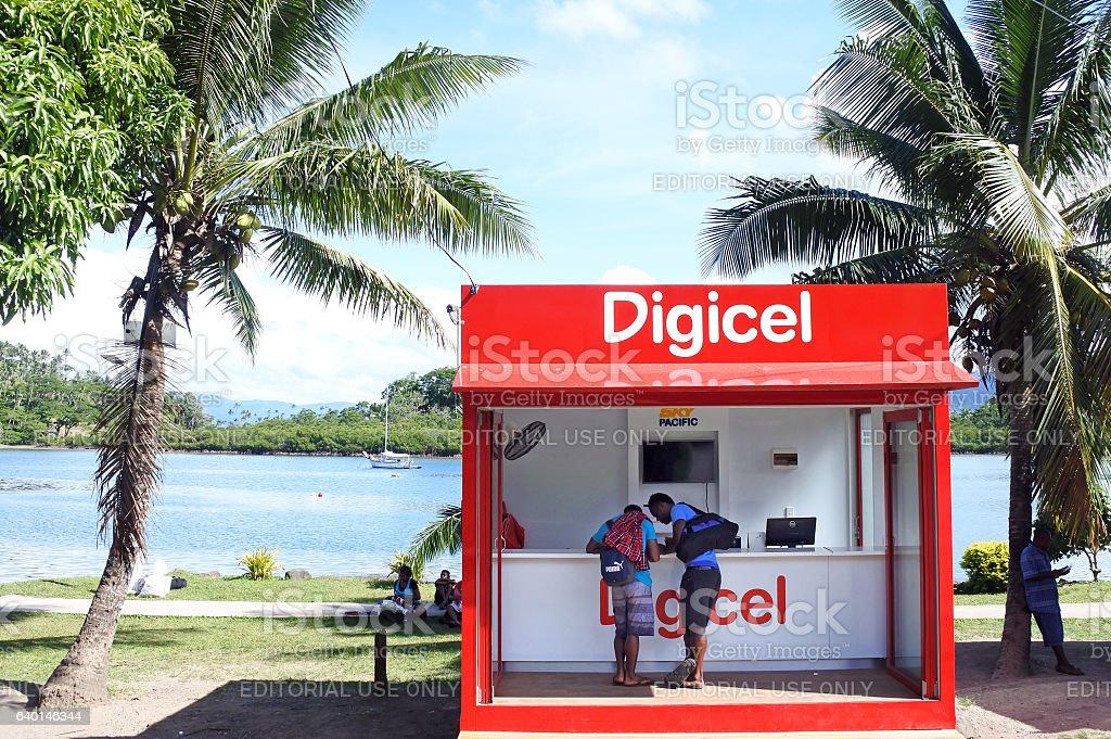Digicel store in Fiji stock photo