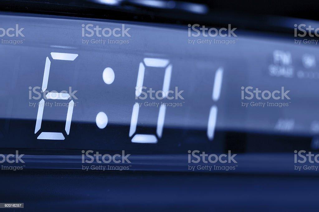 Digital alarm clock royalty-free stock photo