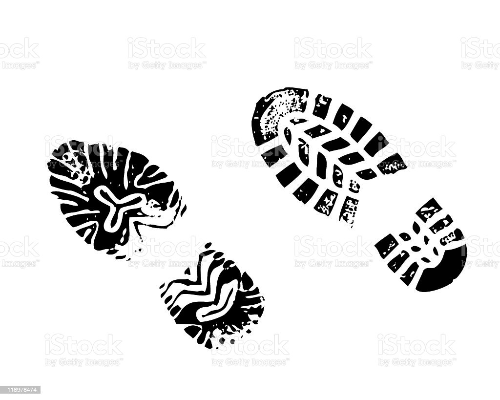 Digital art image of two different shoe types stock photo