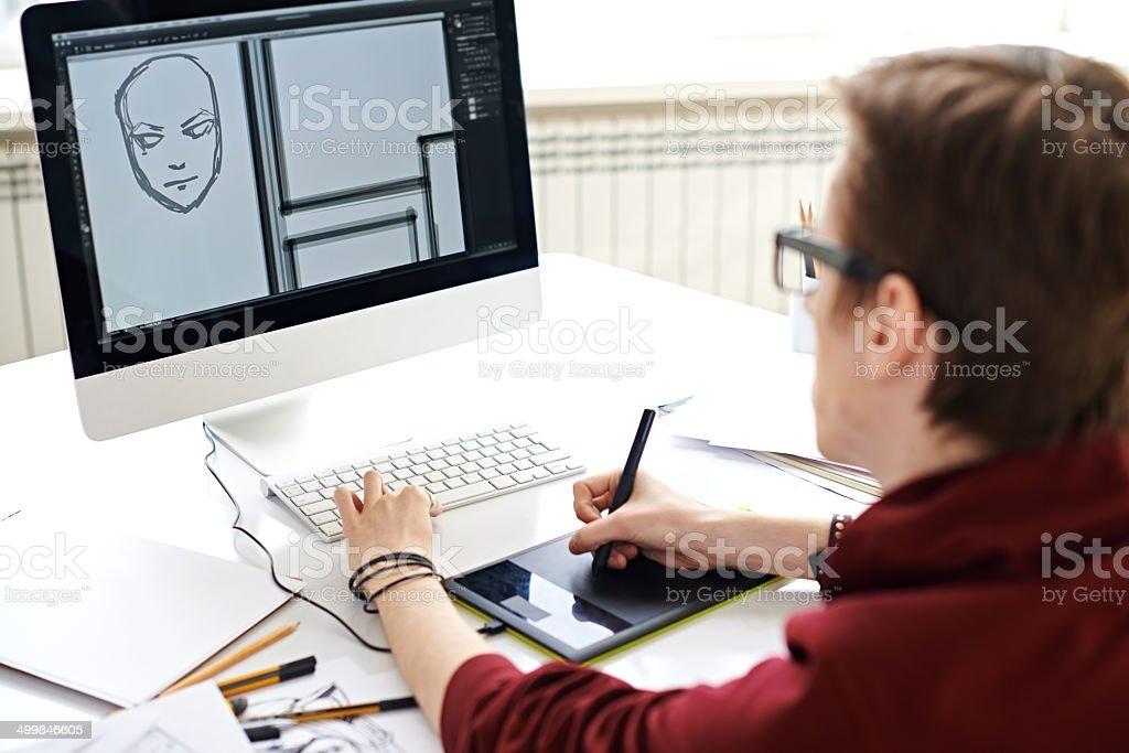 Digital art stock photo