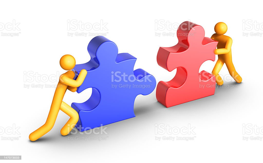 Digital art representing teamwork royalty-free stock photo