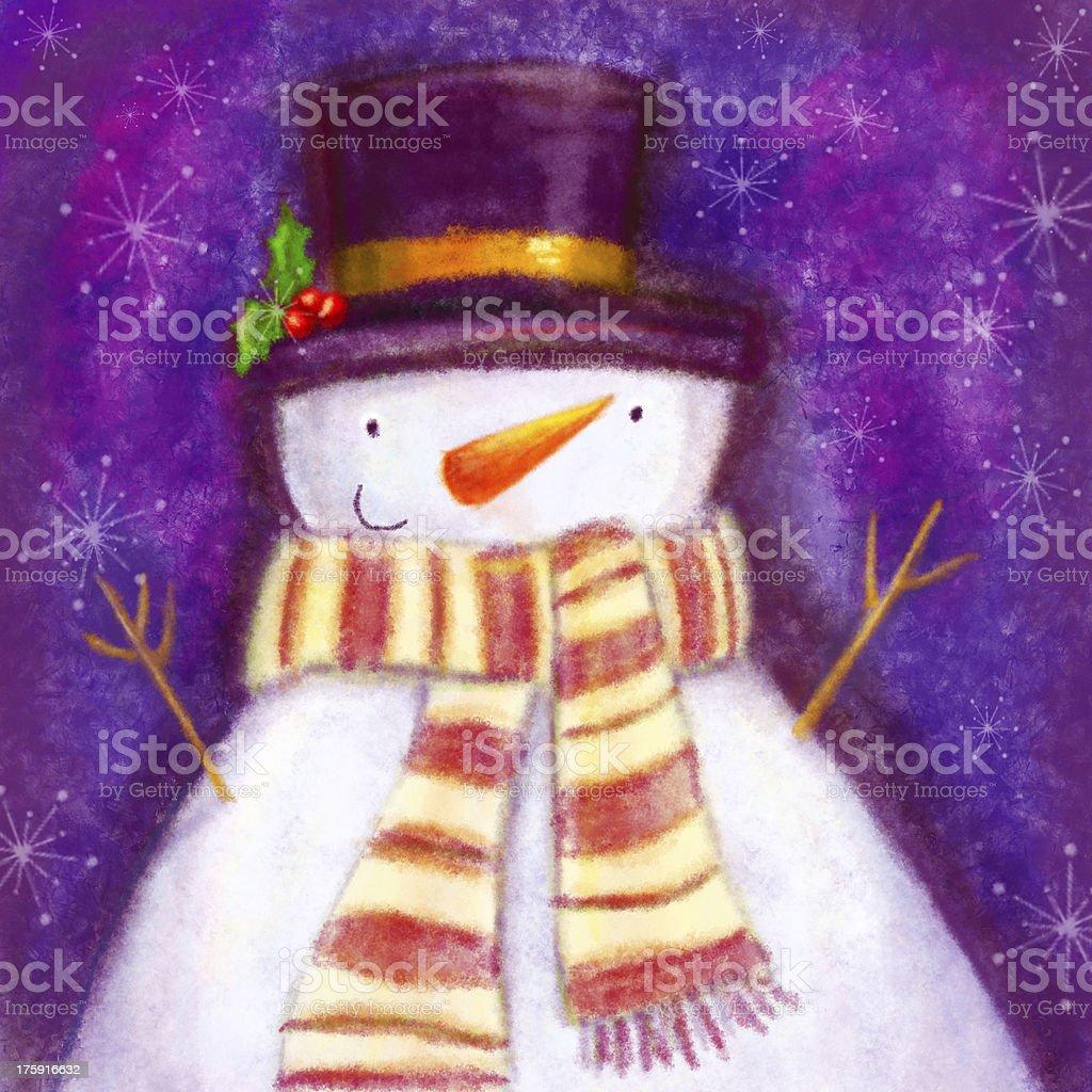 Digital artwork 'Snowman' royalty-free stock photo