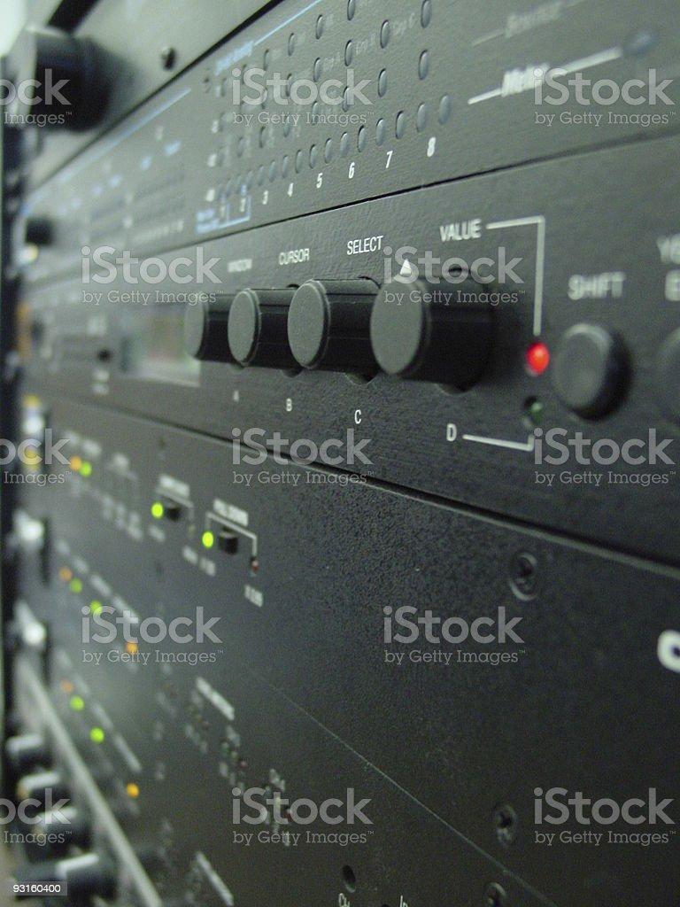 Digital Audio Editing System royalty-free stock photo
