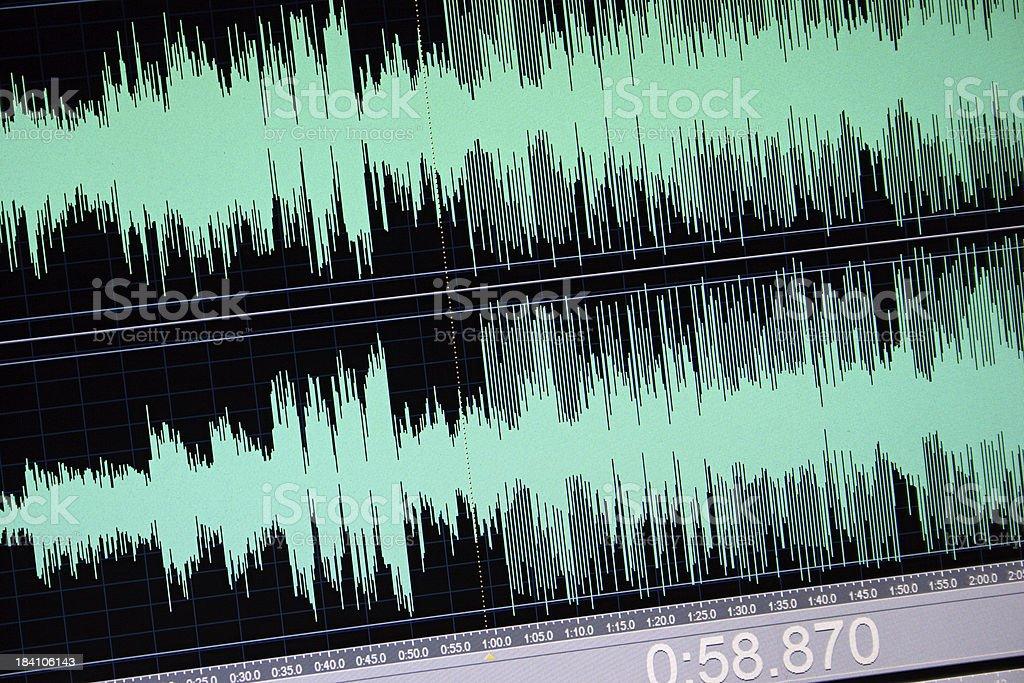 Digital audio. stock photo