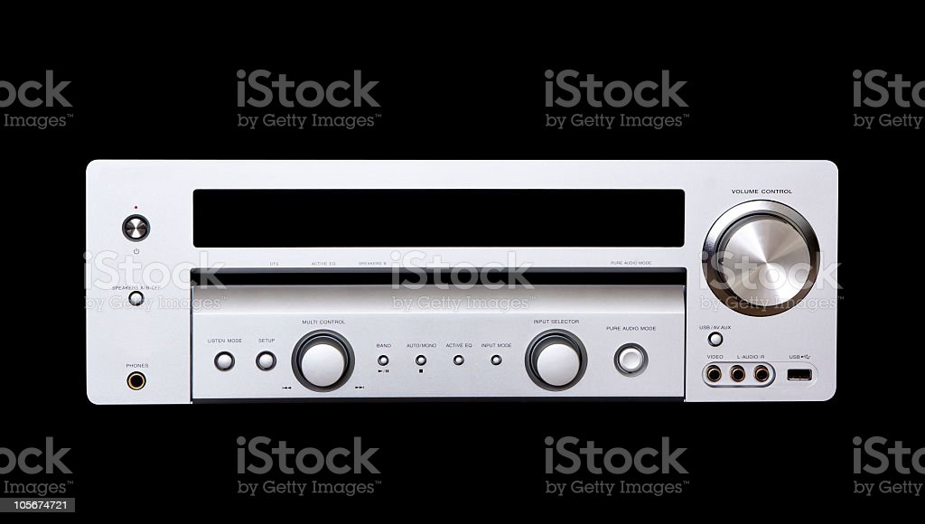Digital audio system isolated on black with clipping path stock photo