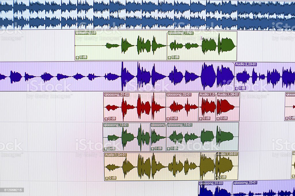 Digital Audio Workstation Screen stock photo