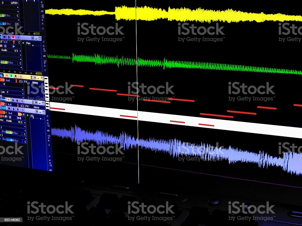 Digital Audio Workstation Screen stock photo