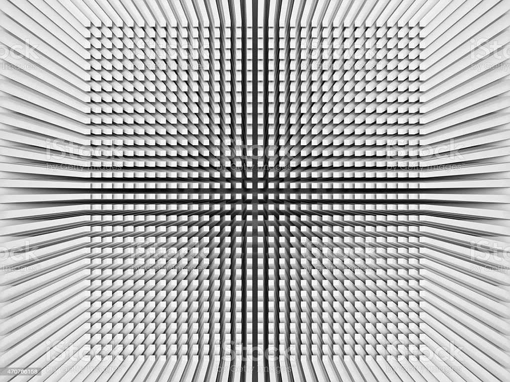 Digital background with invert perspective 3d square pattern stock photo