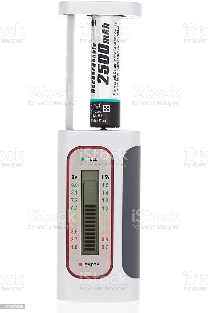 Digital Battery Tester with rechargeable one stock photo