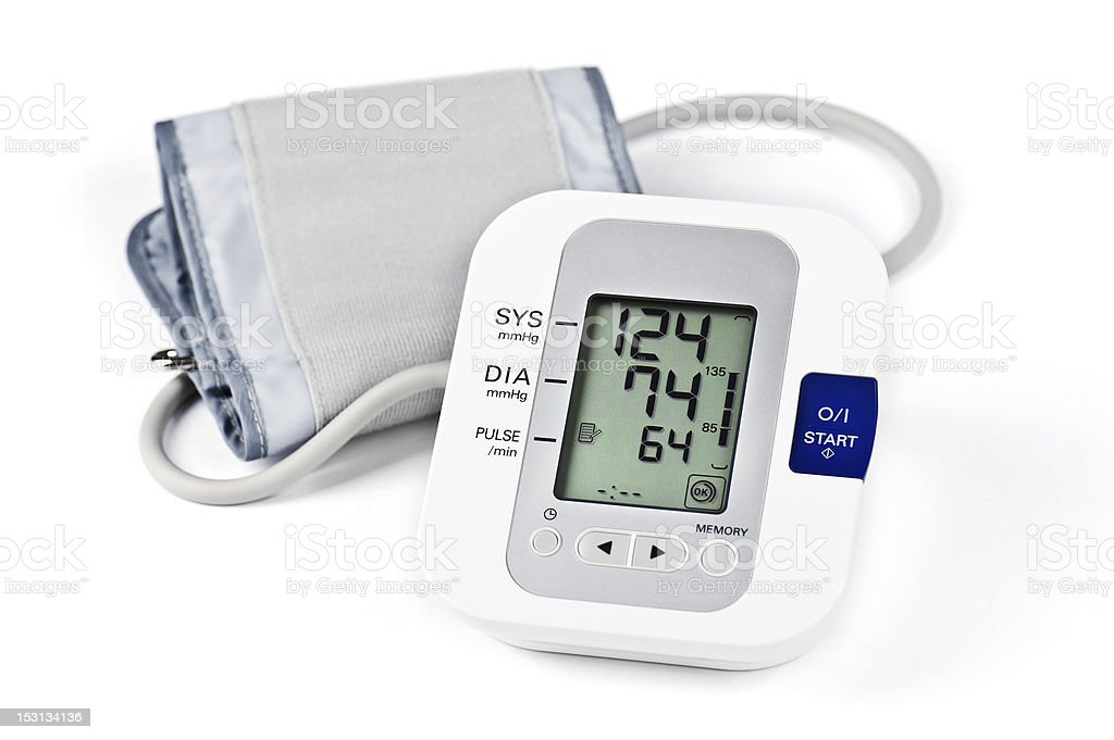 Digital Blood Pressure Monitor stock photo