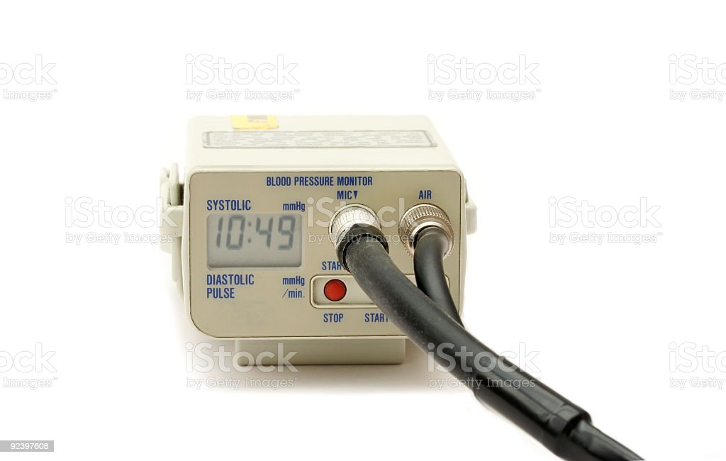 Digital Blood Pressure monitor royalty-free stock photo