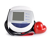 Digital blood pressure monitor with heart