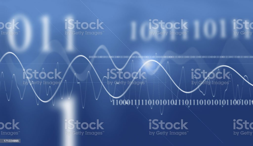 Digital Blue stock photo