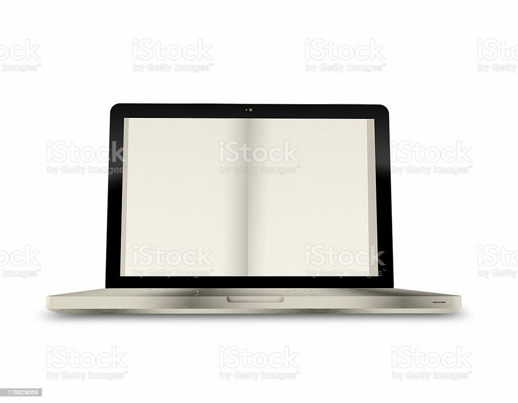 digital book on a laptop screen royalty-free stock photo