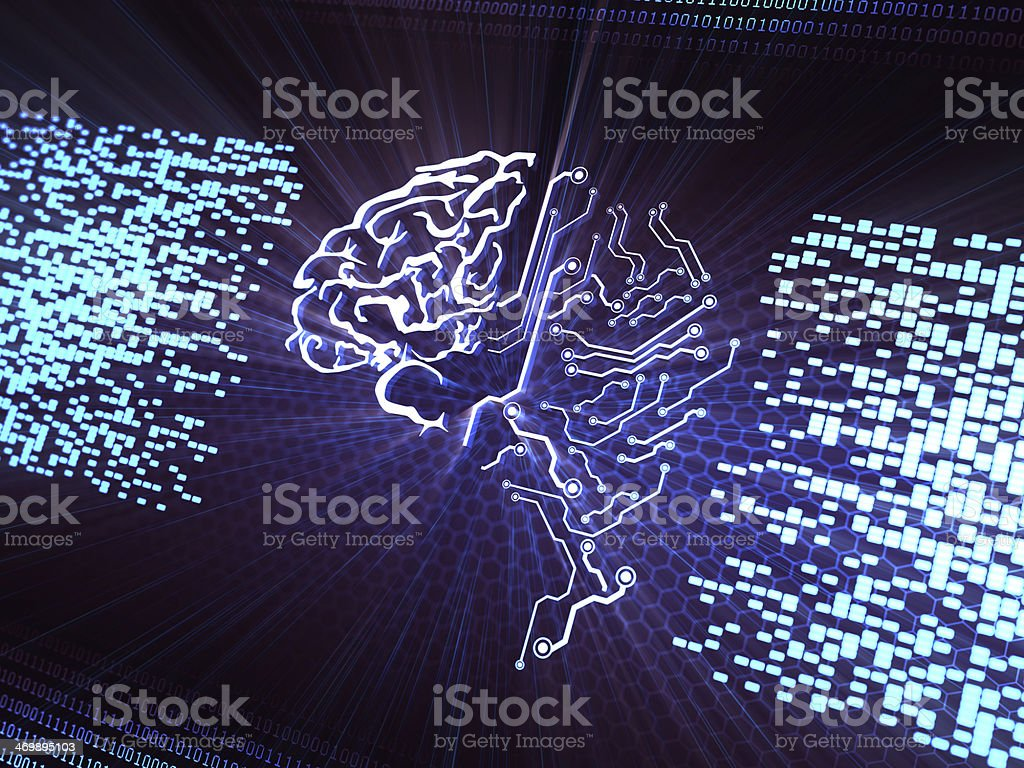 Digital Brain stock photo
