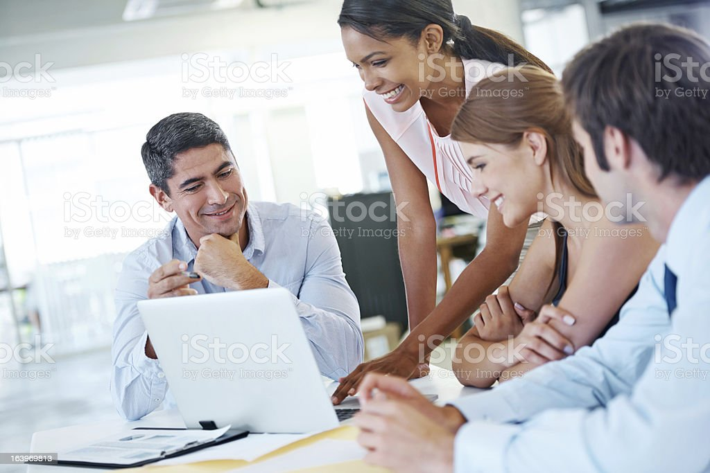 Digital brainstorming! royalty-free stock photo