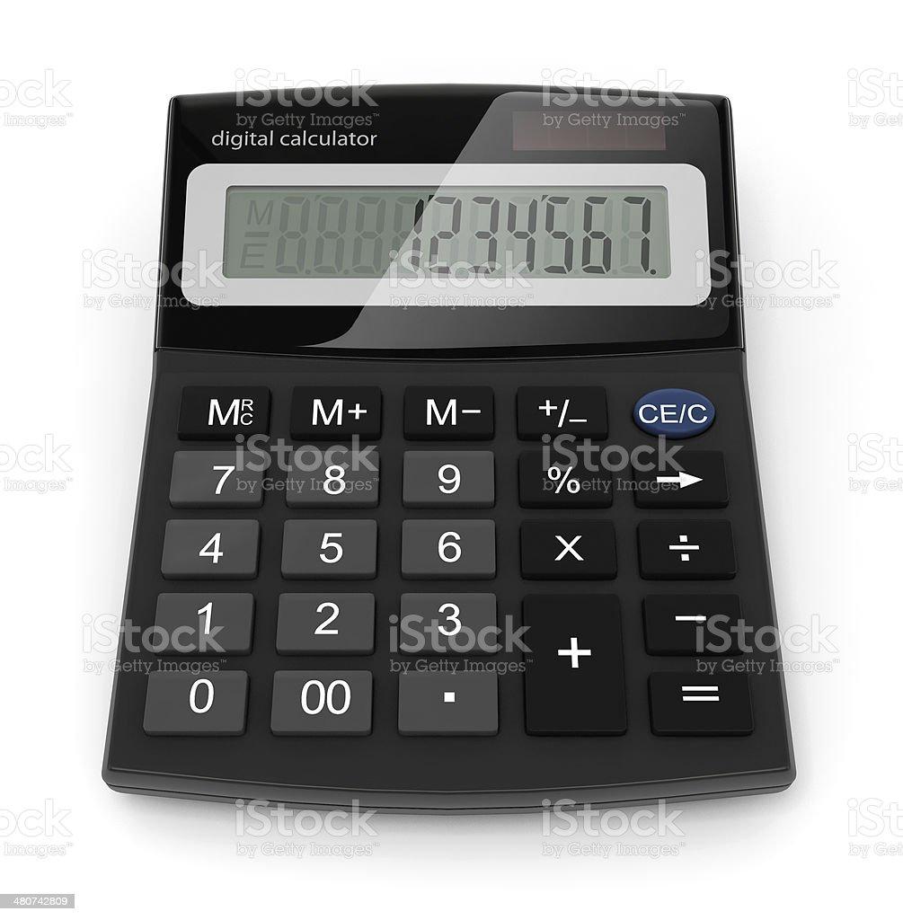 Kalkulator cyfrowe zbiór zdjęć royalty-free