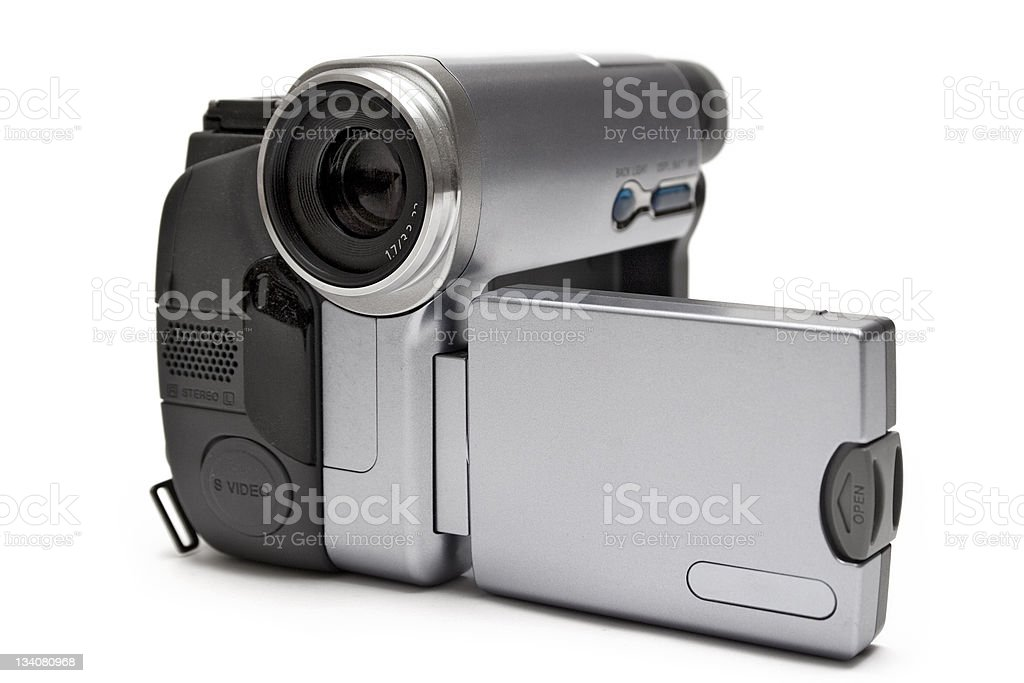 Digital Camcorder (Front-Side View) royalty-free stock photo