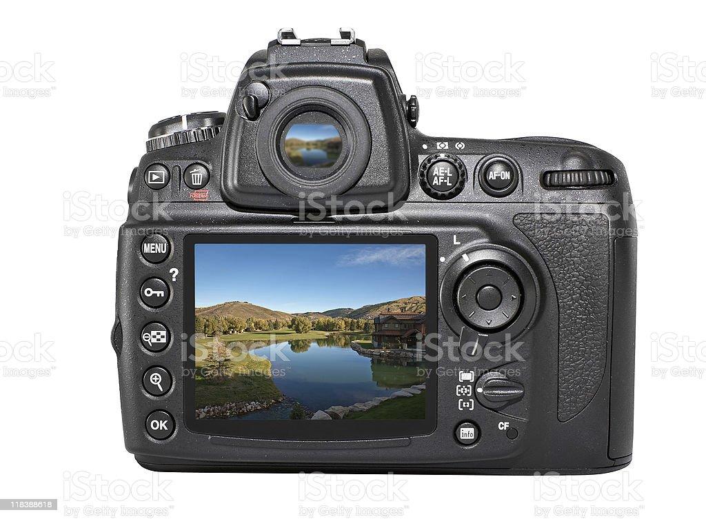 SLR Digital Camera Back royalty-free stock photo