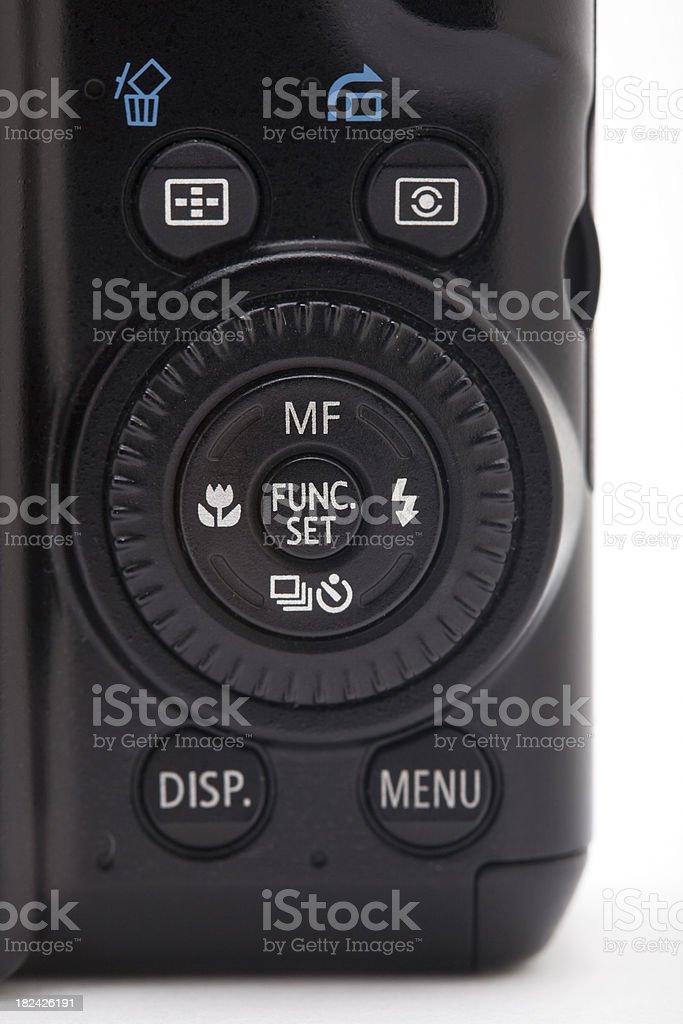 Digital camera controls stock photo