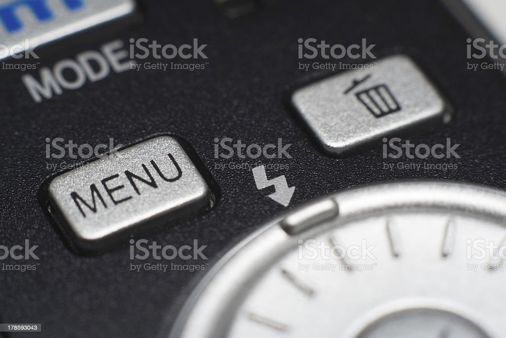 digital camera rotary selector and control button stock photo
