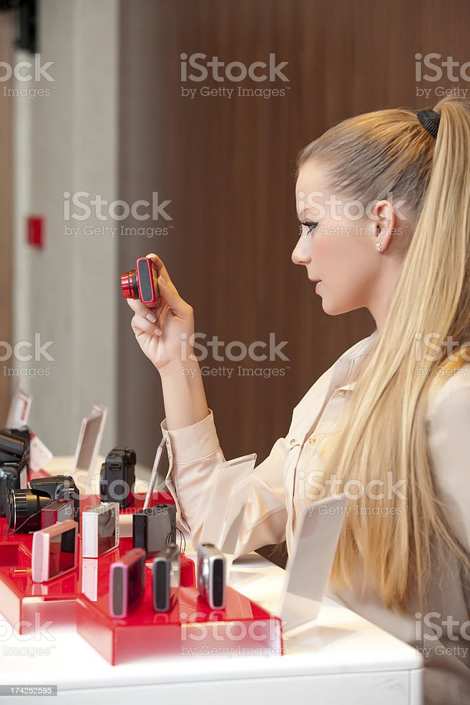 Digital camera shopping royalty-free stock photo
