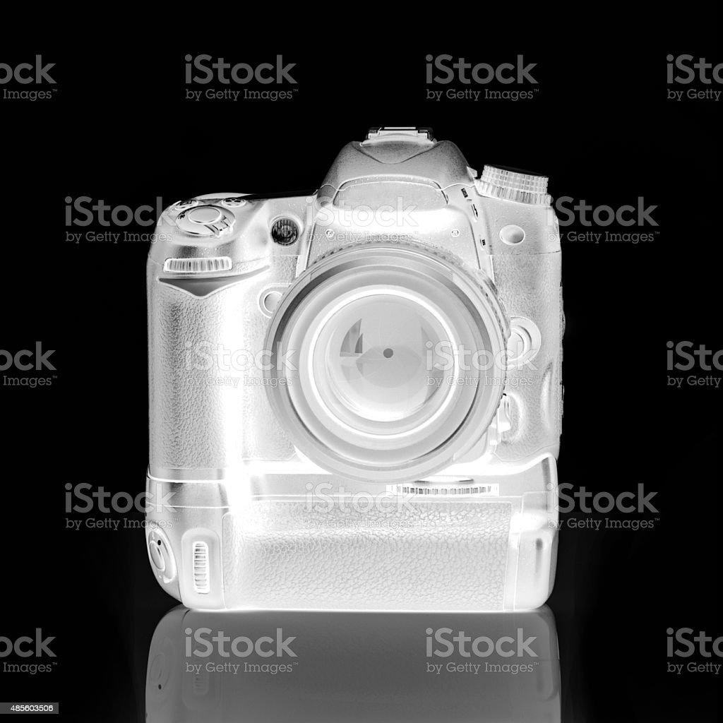 Digital Camera Through X-RAY Machine royalty-free stock photo