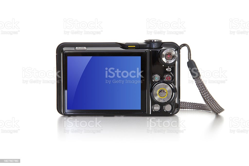 Digital Camera with blank LCD screen stock photo