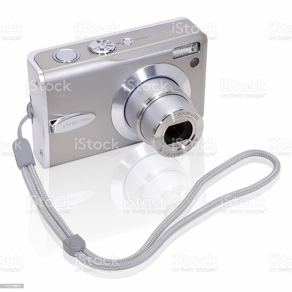 Digital Camera with Clipping Path stock photo