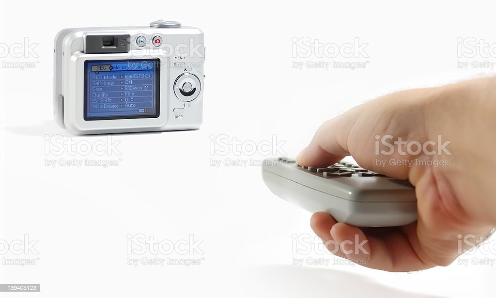 digital camera with remote control stock photo