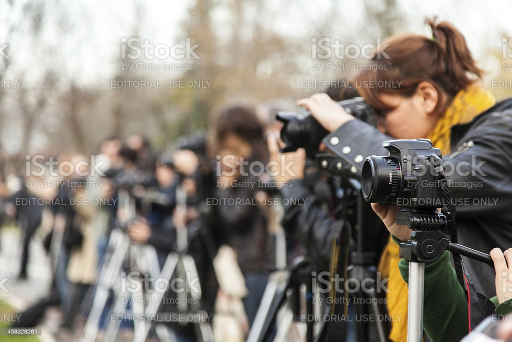 Digital Cameras on Tripods, royalty-free stock photo