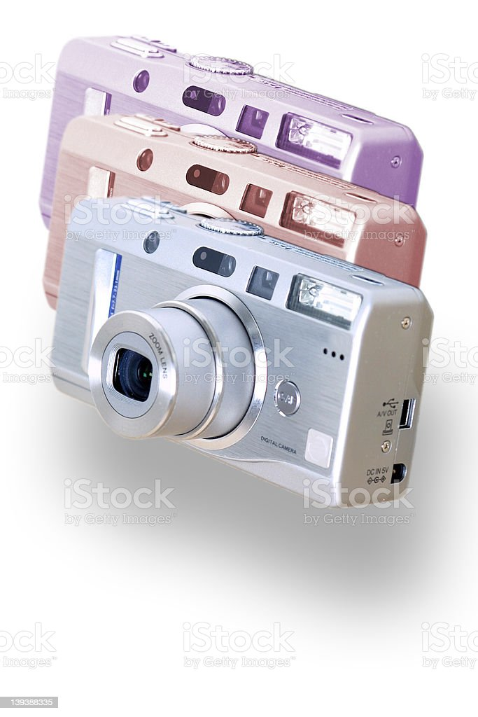 Digital Cameras royalty-free stock photo