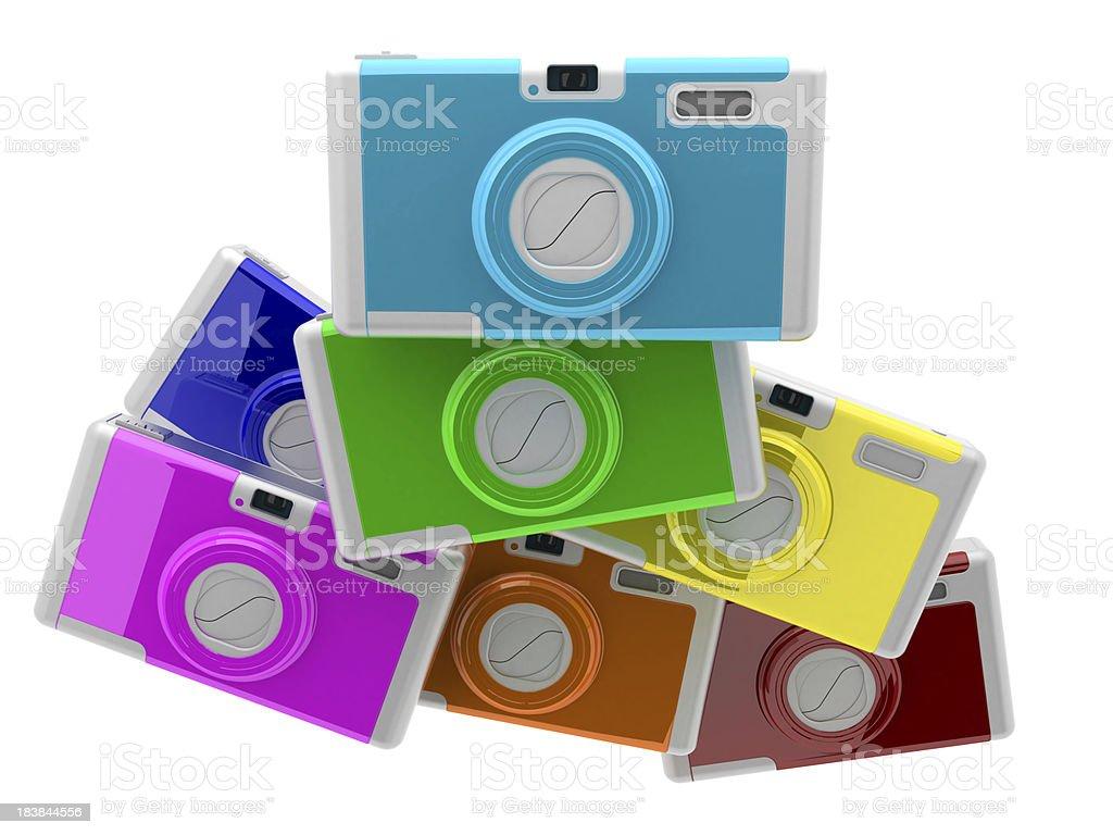 Digital cameras royalty-free stock photo